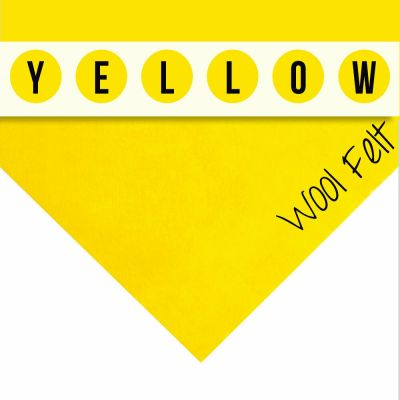 30% Wool Felt Square - Yellow - 12 Inch Square