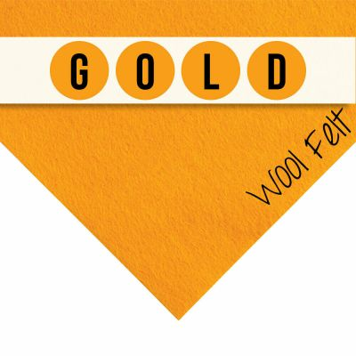 30% Wool Felt Square - Fiesta Gold - 12 Inch Square