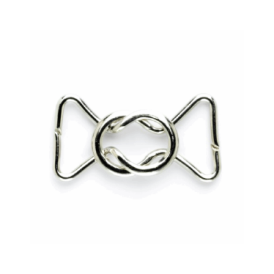 Remnant -Vogue Star Silver Metal 55mm Round Link Clasp Fastener - End of Line