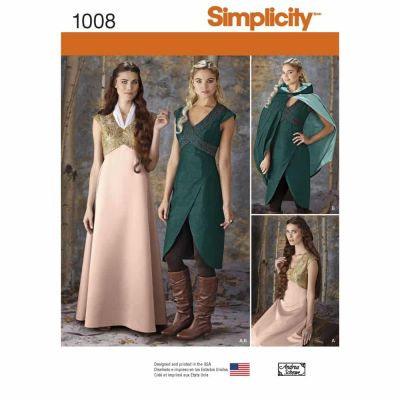 Simplicity Sewing Pattern 1008 Misses' Fantasy Costumes