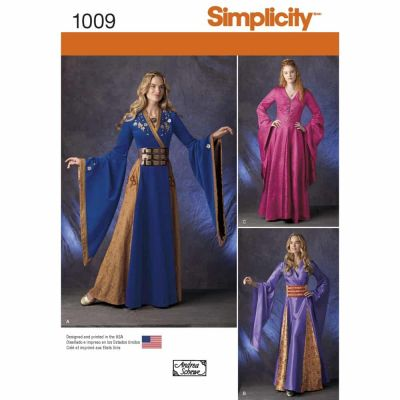 Simplicity Sewing Pattern 1009 Misses' Fantasy Costumes