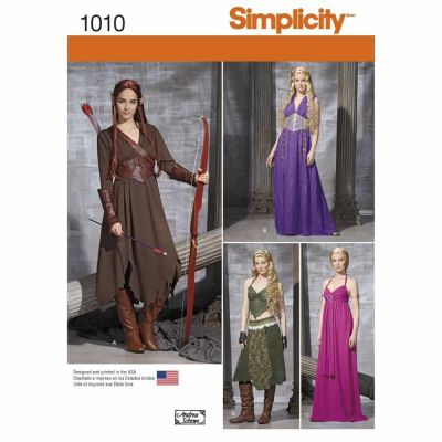 Simplicity Sewing Pattern 1010 Misses' Fantasy Costumes