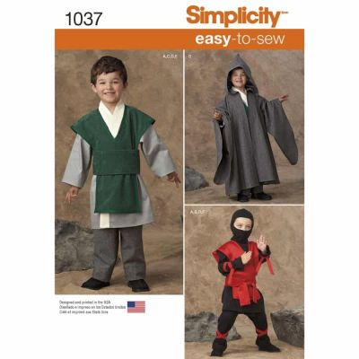 Simplicity Sewing Pattern 1037 Boys' Easy To Sew Costumes