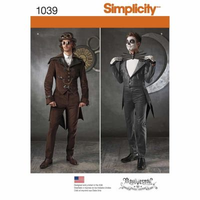 Simplicity Sewing Pattern 1039 Men's Cosplay Costumes