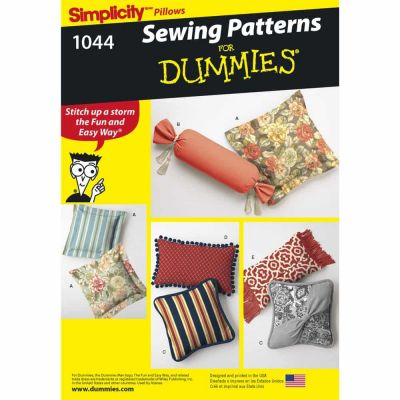 Simplicity Sewing Pattern 1044 Pillows in Various Styles