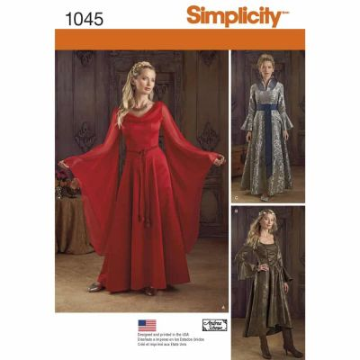 Simplicity Sewing Pattern 1045 Misses' Fantasy Costumes