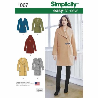 Simplicity Sewing Pattern 1067 Misses' Easy-To-Sew Jacket or Coat