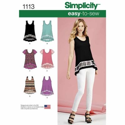 Simplicity Sewing Pattern 1113 Misses' Easy-To-Sew Knit Tops