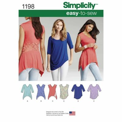 Simplicity Sewing Pattern 1198 Misses' Knit Tops in Two Styles