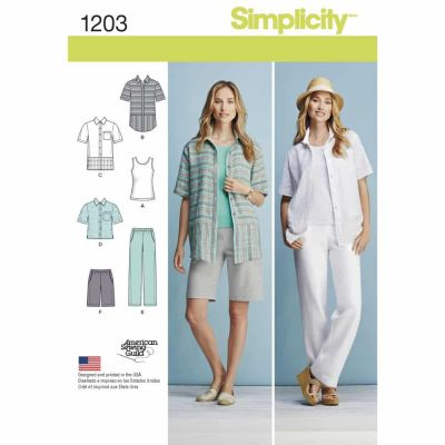 Simplicity Sewing Pattern 1203 Misses' and Women's Sportswear Pattern