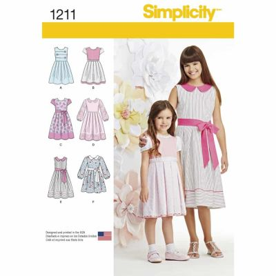 Simplicity Sewing Pattern 1211 Child's and Girls' Dress in two lengths