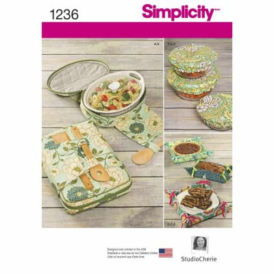 Simplicity Sewing Pattern 1236 Casserole Carriers, Gifting Baskets and Bowl Covers