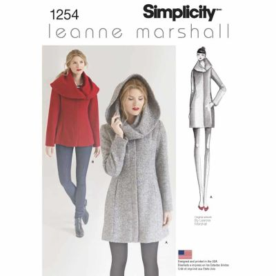 Simplicity Sewing Pattern 1254 Misses' Leanne Marshall Easy Lined Coat or Jacket