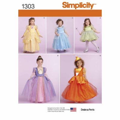 Simplicity Sewing Pattern 1303 Toddlers' and Child's Costumes