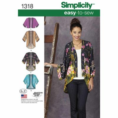 Simplicity Sewing Pattern 1318 Misses' Kimono Jackets