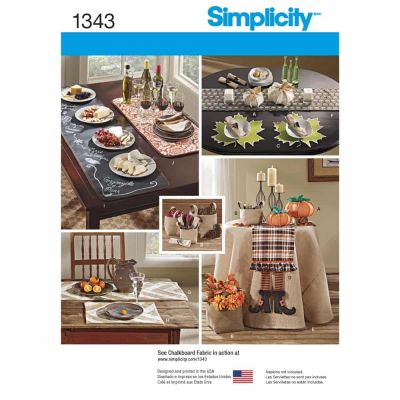 Simplicity Sewing Pattern 1343 Autumn Table Accessories