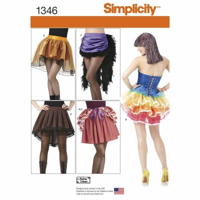 Simplicity Sewing Pattern 1346 Misses' Costume Skirts and Bustles