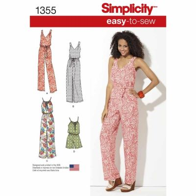 Simplicity Sewing Pattern 1355 Misses' Maxi Dress and Long or Short Jumpsuit