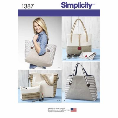 Simplicity Sewing Pattern 1387 Bags in Assorted Sizes