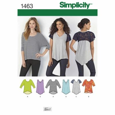 Simplicity Sewing Pattern 1463 Misses' Knit Tops