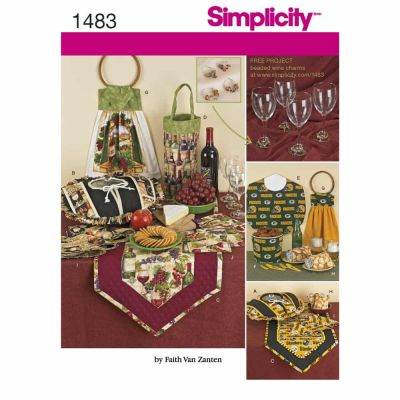 Simplicity Sewing Pattern 1483 Entertainment Accessories