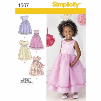 Simplicity Sewing Pattern 1507 Toddlers' and Child's Special Occasion Dress