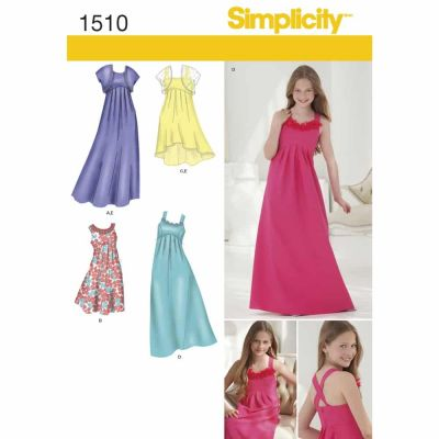 Simplicity Sewing Pattern 1510 Girls '& Girls' Plus Special Occasion Dress