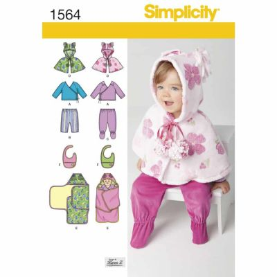 Simplicity Sewing Pattern 1564 Babies' Top, Trousers, Bib, and Blanket Wrap