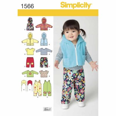 Simplicity Sewing Pattern 1566 Babies' Separates