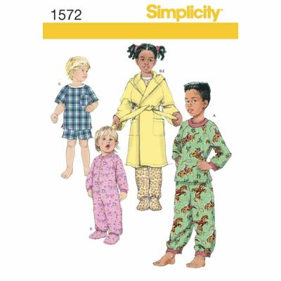 Simplicity Sewing Pattern 1572 Toddlers' and Child's Sleepwear and Robe