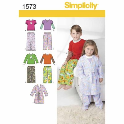 Simplicity Sewing Pattern 1573 Toddlers' and Child's Loungewear