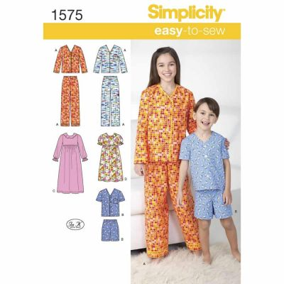 Simplicity Sewing Pattern 1575 Child's, Girl's and Boy's Loungewear