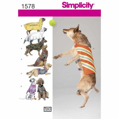 Simplicity Sewing Pattern 1578 Large Size Dog Clothes