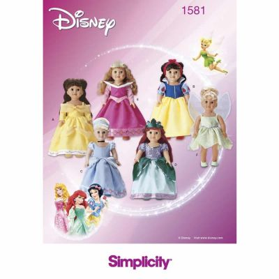 Simplicity Sewing Pattern 1581 Doll Clothes