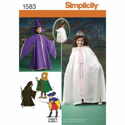 Simplicity Sewing Pattern 1583 Child's Caped Costume