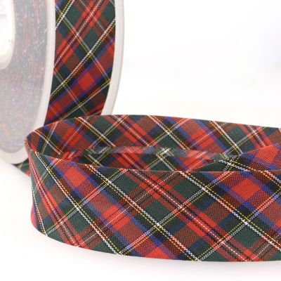 La Stephanoise 30mm Cotton Bias Binding - Tartan