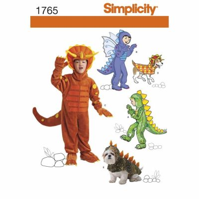 Simplicity Sewing Pattern 1765 Child's and Dog Costumes