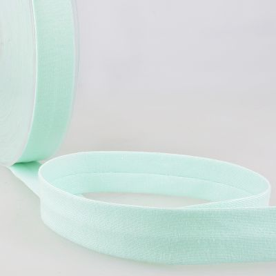 Stephanoise Plain Cotton Jersey Bias Binding - 20mm Wide - Turquoise Blue