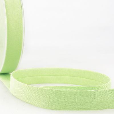 Stephanoise Plain Cotton Jersey Bias Binding - 20mm Wide - Nile Green