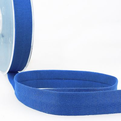 Stephanoise Plain Cotton Jersey Bias Binding - 20mm Wide - Royal Blue