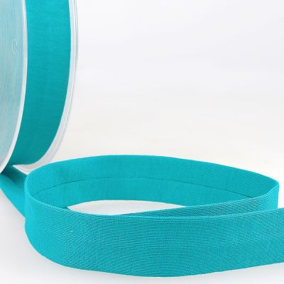 Stephanoise Plain Cotton Jersey Bias Binding - 20mm Wide - Teal Blue