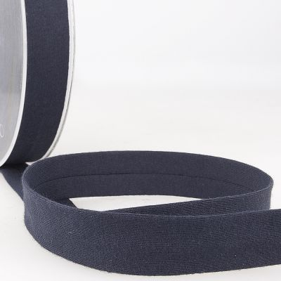 Stephanoise Plain Cotton Jersey Bias Binding - 20mm Wide - Navy