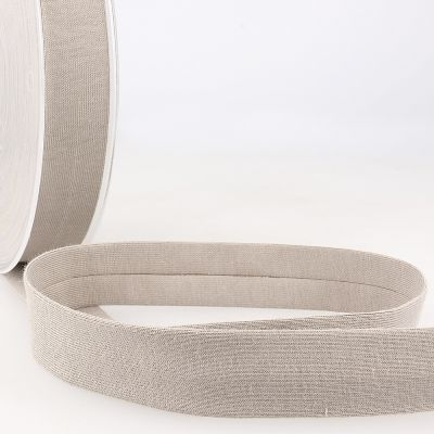 Stephanoise Plain Cotton Jersey Bias Binding - 20mm Wide - Taupe