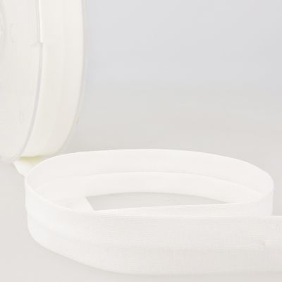 Stephanoise Plain Cotton Jersey Bias Binding - 20mm Wide - Ivory