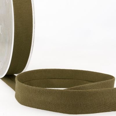 Stephanoise Plain Cotton Jersey Bias Binding - 20mm Wide - Khaki