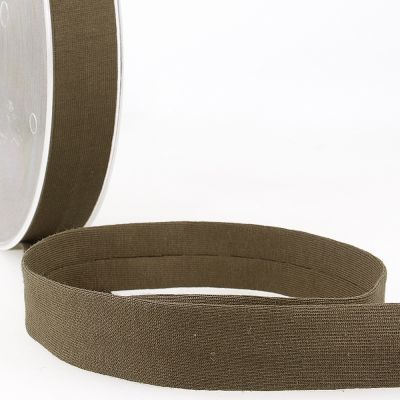 Stephanoise Plain Cotton Jersey Bias Binding - 20mm Wide - Dark Brown