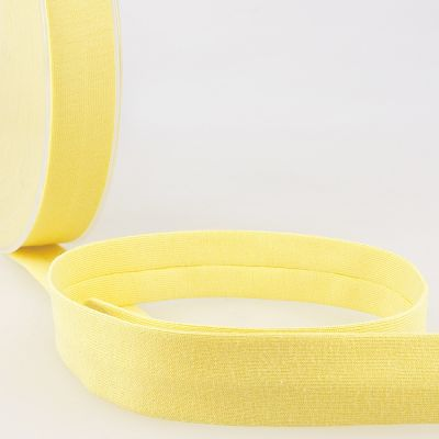 Stephanoise Plain Cotton Jersey Bias Binding - 20mm Wide - Straw Yellow