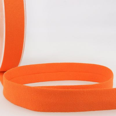 Stephanoise Plain Cotton Jersey Bias Binding - 20mm Wide - Orange