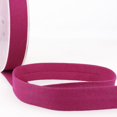Stephanoise Plain Cotton Jersey Bias Binding - 20mm Wide - Dark Purple
