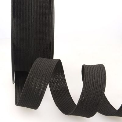 Woven Ribbon Elastic - 25mm Wide - Black
